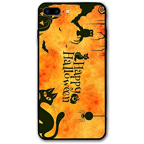 Gatto Halloween iPhone 7/8 Plus Case Shell Shock-Absorption Bumper Anti-Scratch Case Enhanced Grip Protective Defender -