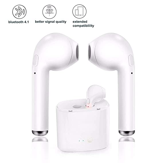 Bluetooth Headphones, Bluetooth Earbuds, Wireless Earbuds with mic Mini Twins Stereo Headsets with Charging