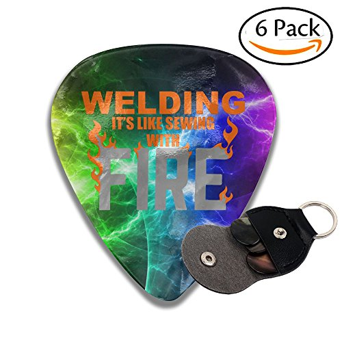 (Welding It's Like Sewing With Fire Sampler Guitar Picks - 6 Pack Unique Accessory For Guitar Player Best Gift For Guitarist)