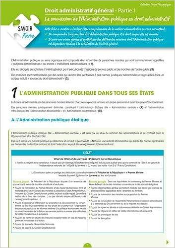 Livres gratuits Droit Administratif Général (Partie 1) - La soumission de l'Administration Publique au droit Administratif pdf, epub ebook