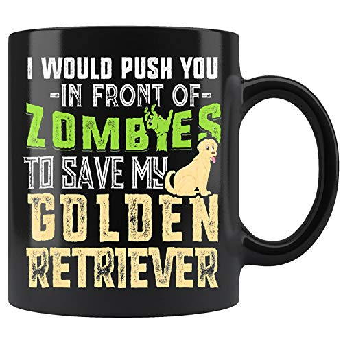 Golden Retriever Dad Funny Dog Zombies Mug Coffee Mug 11oz Gift Tea Cups 15oz