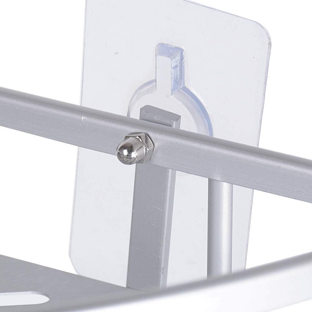 BUONDAC Estante Baño Estante Ducha Estantería Esquina Pared Repisa Organizador Esquinero Baño Aluminio sin Taladro