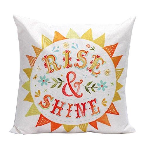 Gotd Light Color Letters Decorations Decor Throw Pillow Case Sofa Waist Throw Cushion Cover Home Decor Square 45cm