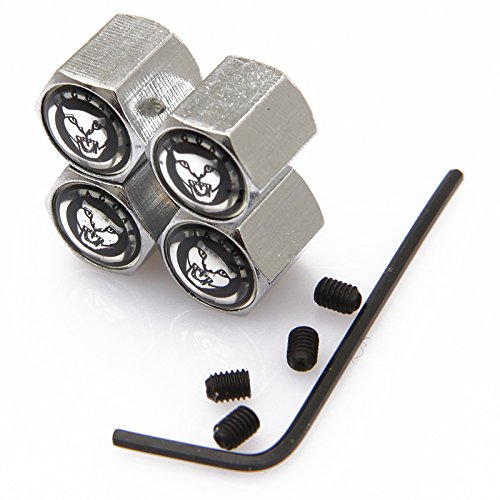 CzlpV Anti-theft Metal Car Wheel Tyre Tire Stem Air Valve Cap For Jaguar (Style 2) ()