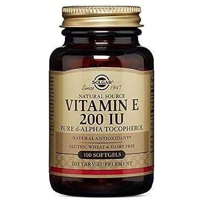 Solgar Vitamin E 200 IU Alpha Softgels, 100 Count