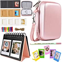 SAIKA Printer Accessories Bundle for HP Sprocket Portable Photo Printer(2nd Edition) - [HP Sprocket Case+Photo Album+Wall Hanging Frame+Table Frame+ Pens] - Rose Gold