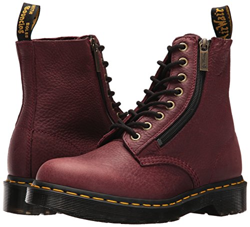 Red Bottes W Leather martens 1460 Dr Pascal Femme Cherry Grizzly zip Inw78xvAqx