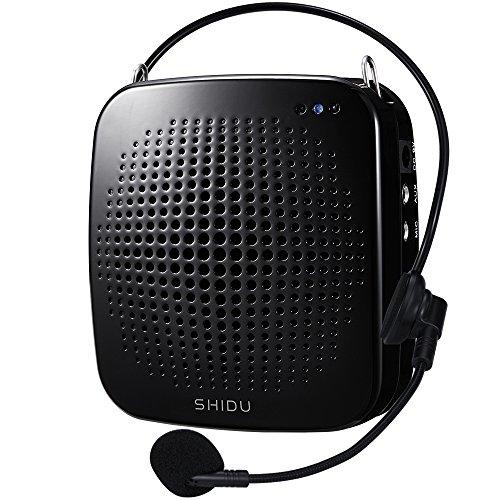 SHIDU Rechargeable LoudSpeaker Instructors Emcees Black