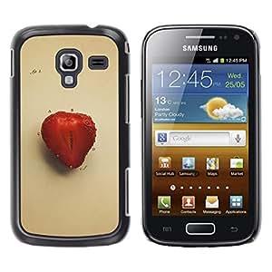 A-type Arte & diseño plástico duro Fundas Cover Cubre Hard Case Cover para Samsung Galaxy Ace 2 (Juicu fresa)