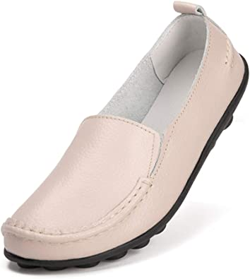 Amazon.com   Harence Shoes for Women Casual Slip On Driving Loafers  Comfortable Leather Outdoor Walking Flat Shoes   Loafers & Slip-Ons