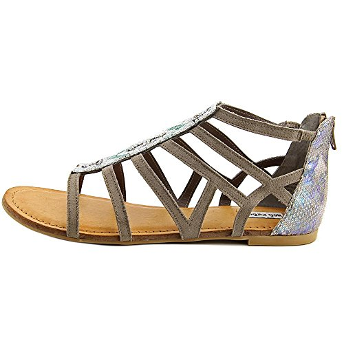 Not Rated Womens Crystalyn Fabric Open Toe Casual Gladiator Sandals Taupe kD6sx8PD