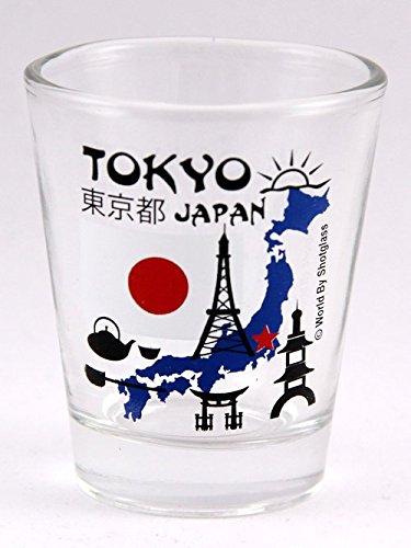 (Tokyo Japan Landmarks Collage Shot Glass)