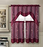 Cheap VCNY Daphne 3 Piece K/C Set, 57 x 36″, Burgundy