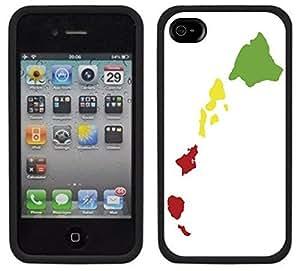 Hawaiian Islands Hawaii Rasta Handmade iPhone 4 4S Black Case