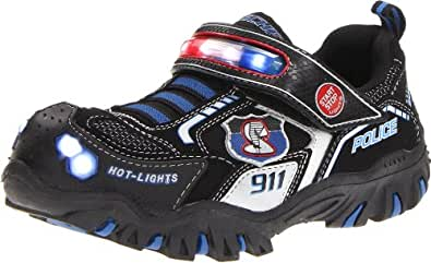 Skechers Kids 90348N Damager Police II Light-Up Sneaker
