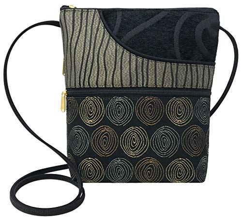 Danny K Women's Tapestry Bella Purse Crossbody Handbag, Adjustable Cord, Handmade in USA (Getty/Gravity)