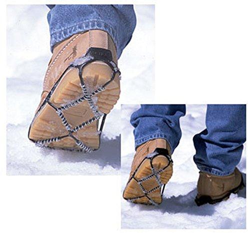 Happy Lily Ice & Snow Traction Taquet, glace Grips pour la marche, glace griffes Tread, Crampons, stretch Chaussures ajustement extérieur Terrain glissant, sont livrés avec sangles Velcro et sac étanc 4 pairs