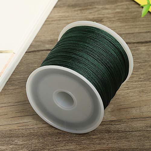 Oyfel Rouleaux Cordes Fils /à Perler Cordons Cir/és pour Bracelet Bijoux Bricolage Artisanat Faire Tress/é DIY Fabrication 0.8mm*50M