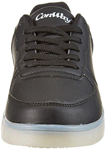 ConWay Unisex-Erwachsene 207461 Sneaker Schwarz (Schwarz)