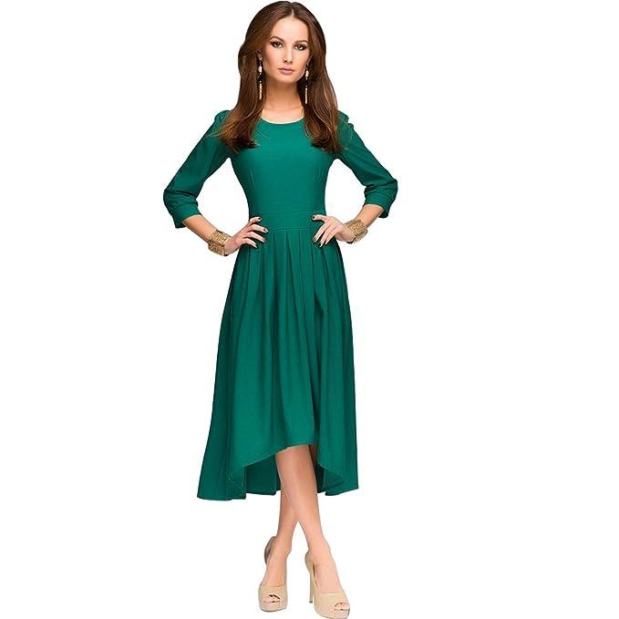 ASAP Mujeres Verde Knitting Vestidos De Fiesta Largos 1701AC