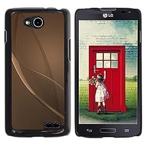 Be Good Phone Accessory // Dura Cáscara cubierta Protectora Caso Carcasa Funda de Protección para LG OPTIMUS L90 / D415 // Grey Beige Bronze Reflective Abstract