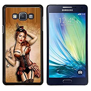 Caucho caso de Shell duro de la cubierta de accesorios de protección BY RAYDREAMMM - Samsung Galaxy A7 A7000 - atractivo encima de las medias modelo de lencería