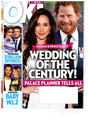 Ok  Magazine   September 18  2017   Prince Harry   Meghan Markle L David   Victoria Beckham L Maksim Chmerkovskiy   Peta Murgatroyd