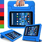 AVAWO All New Fire 7 2017 Kids Case - Light Weight Shock Proof Handle Kid-Proof Case for Fire 7 inch Display Tablet (7th Generation - 2017 release), Blue