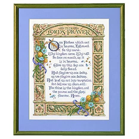 Bucilla Counted Cross Stitch Kit 11.25 by 14.5-Inch 43198 Lords Prayer