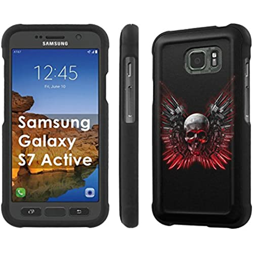 AT&T [Galaxy S7 Active] [5.1 Screen] Armor Case [NakedShield] [Black] Total Armor Protection [Shell Snap] + [Screen Protector] Phone Case - [Indian Tribal Tattoo] for Sales