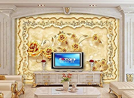 zljtyn 240cmx160cm 3d wallpaper custom mural 3d room wallpaperzljtyn 240cmx160cm 3d wallpaper custom mural 3d room wallpaper european style luxury gold rose marble relief 3d wall murals wallpaper amazon com