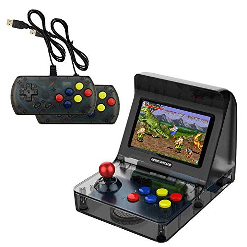 - Mini Arcade Game, 4.3 Inch Retro Arcade Console Classic Handheld Video Games Home Travel Tiny Arcade Machines with 2 Controllers - Build in 3000 Classic Games for Kids Adults