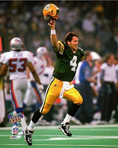 Brett Favre Green Bay Packers Super Bowl XXXI Action Photo (Size: 8