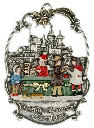 Christmas Market in Nuremberg German Pewter Ornament Nurnberg Decoration