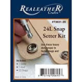 Realeather Crafts Snap Setter Kit, 24-Litter, Nickel