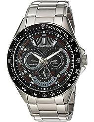 Armitron Mens 20/5197BKSV Multi-Function Dial Silver-Tone Bracelet Watch