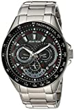 Armitron Men's 20/5197BKSV Multi-Function Dial Silver-Tone Bracelet Watch
