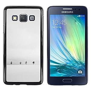 iKiki Tech / Estuche rígido - Winter Snow Grey White Trees Minimalist - Samsung Galaxy A3 SM-A300