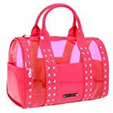 Betsey Johnson BH77225 Satchel,Pink,One Size, Bags Central