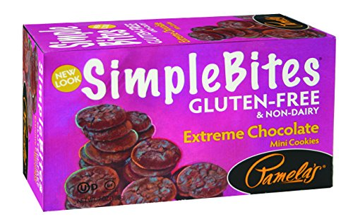 Cinnamon Gluten Free Cookies - Pamela's Products Gluten Free Simplebites Mini Cookies, Extreme Chocolate, 7 Ounce (Pack of 6)