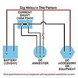 Ocamo Universal Mini OLED DC Ammeter Monitors 0-100A 12V/24V DC IP66 Current Monitor for Car