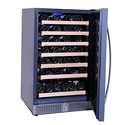 Smad Built-in Wine and Beverage Chiller with Lock,46 Bottles,Stainless Steel