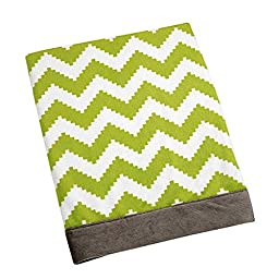 Safari Monkey Chevron Printed Velboa Blanket