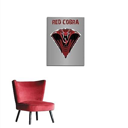 Amazon.com: longbuyer Painting Post Amazing Red King Cobra Mural 24