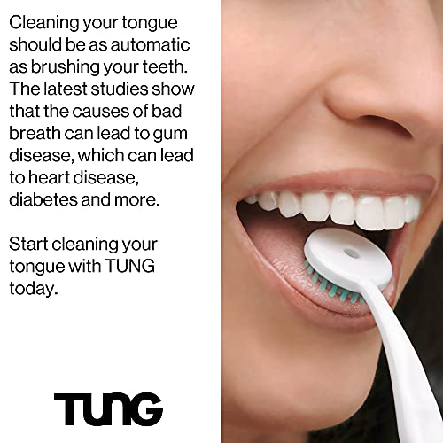 The Original TUNG Brush Tongue Cleaner, 2 Pack (Colors Vary)