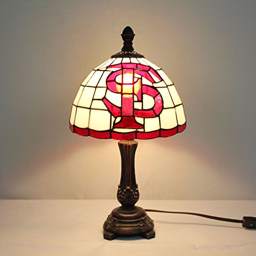 Royal- 9-inch NCAA Fresno State Bulldogs Stained Glass Table Lamp