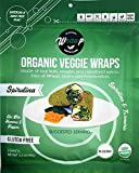 Raw Organic Spirulina Mini Veggie Wraps | Wheat-Free, Gluten Free, Paleo Wraps, Non-GMO, Vegan Friendly Made in the USA