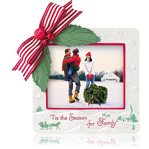 Hallmark Photo Holder (1 X 'Tis The Season For Family Photo Holder - 2014 Hallmark Keepsake Ornament)