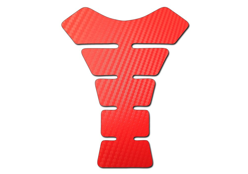 Motorbike Tank Pad Protector Motorcycle Scratch Pad Red Carbon Fibre Effect