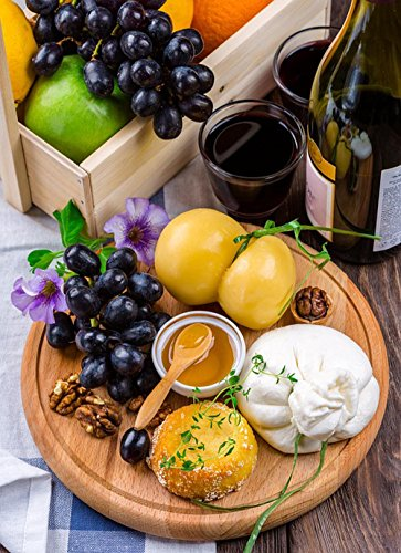 Wine and Cheese Platter Laminated Poster Print